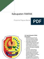 PPT Kabupaten FAKFAK