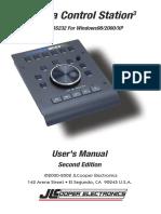 MCS3 USB & RS232 for Windows User Manual