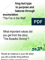Distinguishing Text Type According to Purpose and Language Features Through Enumeration