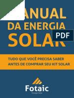 Fotaic O Manual Da Energia Solar