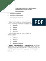 Clasificación Jerárquica de Las Normas Jurídicas Establecidas Por Hans Kelsen
