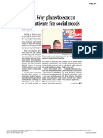 211 - The Plain Dealer - UW to Screen Poor Patients for Social Services