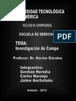 TRABAJO GRUPAL DE DIAGNÓSTICO DEL ENTORNO