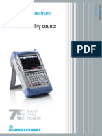 Datasheet Rohde Et Schwarz FSH8 Spectrum Analyzier