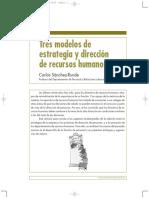 Tres modelos de estrategia y dirección de recursos humanos.pdf
