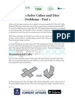 How to Solve Cubes and Dice Problems Part 1