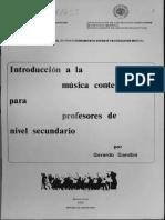 Gerardo Gandini - Introduccion a La Musica Contemporanea