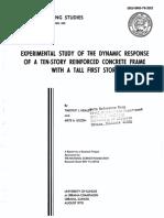 Experimental Study Ten Story Frame