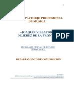 Conservatorio Profesional de Música Joaquin Villatorio - Programas Oficiales de Estudio