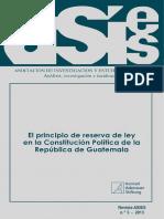 Revista_2013-3 El Principio de Reserva de Ley en La Constitucion Politica de La Republica de Guatemala