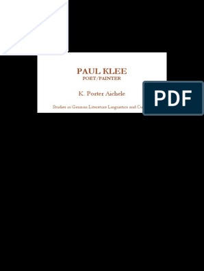 K Porter Aichele Paul Klee Poet Painterpdf