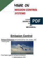 Emission Control
