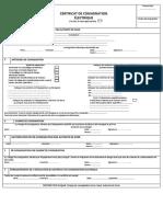 Certificat de Consignation Éléctrique