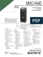 Sony Mhc-V44d Ver.1.1