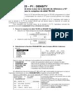 Proceédure de Modification P623-Densité a 15