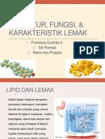 Struktur, Fungsi, & Karakteristik Lemak
