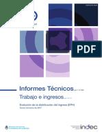 INDEC ingresos del tercer trimestre de 2017