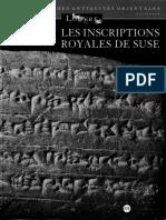 F. Malbran-Labat-Les Inscriptions Royales de Suse. Briques de l'Époque Paléo-élamite à l'Empire Néo-élamite-Éditions de La Réunion Des Musées Nationaux. Paris (1995)