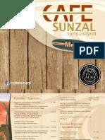 Menu Cafe Sunzal