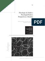Psicologia da Saúde e Psicologia Positiva