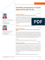 Durability characteristics of copper slag concrete with fly ash