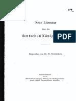Neue Literatur Über Die Deutsche Königswahlen