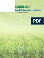 Model Act Agricultural Universities India