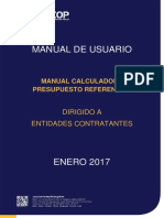 Manual Calculadora Presupuesto Referencial