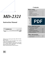 Onkyo MD 2321 Owners Manual