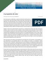 A propósito do luto | Dr. Flávio Gikovate