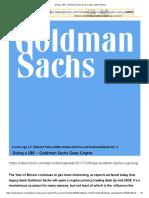 Doing a 180 – Goldman Sachs Goes Crypto - Bitcoin News