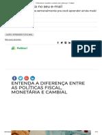 Política Fiscal, Monetária e Cambial_ Qual a Diferença_ - Politize!