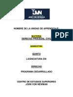 Desarrollo de Contenido de Derecho Procesal Civil Diapositiva Tres