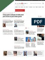 UOL Propaga Redução Penal_Pesquisa Data Folha Cresce Apoio