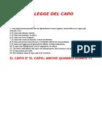 Legge Del Capo