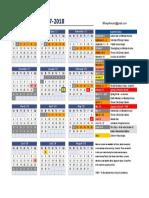 studio web calendar 2017-18