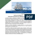 """GACETILLA DE PRENSA N°77 OPERACIONES DE BÚSQUEDA DEL SUBMARINO ARA """"SAN JUAN"""""""