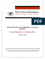 Civic Federation Effective Tax Rates Report 2006_2015