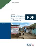 Correa, C. (2013). Reparaciones en Perú. El Largo Camino Entre Las Recomendaciones y La Implementación