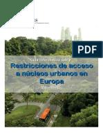 Guía Sobre Restricciones de Acceso a Nucleos Urbanos en Europa 20151