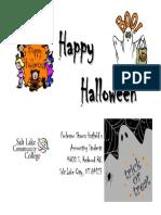 halloween donation poster