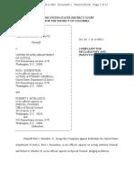 Paul Manafort v. DOJ, Rosenstein, Mueller - Complaint
