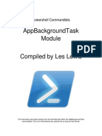 Powershell Commandlets - AppBackgroundTask Module