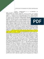 MODELO Venta Con Hipoteca Por Saldo Con Emision de Letras Hipotecarias Conforme Ley 24441