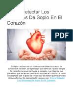 Sintomas de Soplo en El Corazon: