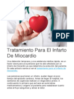 Tratamiento Para El Infarto de Miocardio