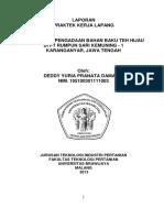 Manajemen Pengadaan Bahan Baku Teh Hijau Di Pt Rumpun Sari Kemuning 1 Karanganyar Jawa Tengah