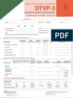 DTVP-3 Cuadernillo de Registro Del Examinador