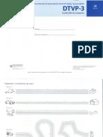 DTVP-3 Cuadernillo de Respuestas