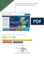 Indicaciones Para Actualizar El Perfil en El Campus Virtual UNAD